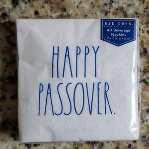 Rae Dunn Beverage Napkins Happy Passover Set of 40